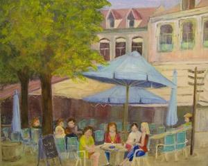 Schilderij Elly Timmer - Het terras